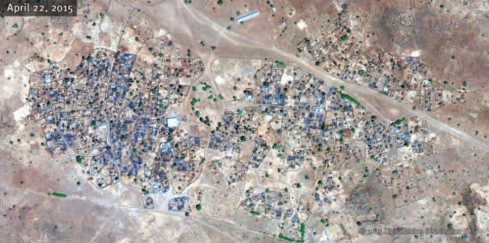 Bardani Satellite image of the villages of Bardani and Korma recorded during the government offensive in