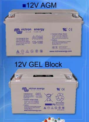 12V AGM 12V GEL Block