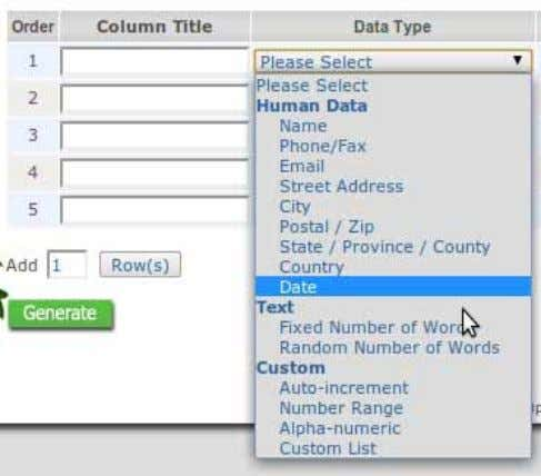 database that might help you in several test scenarios. Image 2 - Available data types Explaining