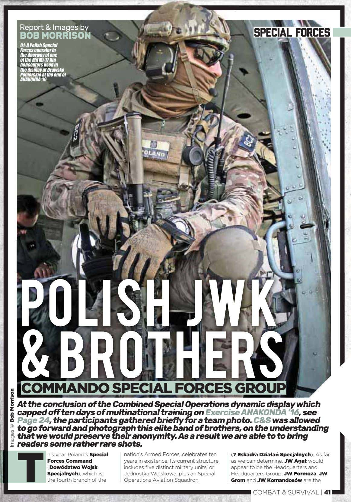 Report & Images by special forces BOB MORRISON 01: A Polish Special Forces operator in