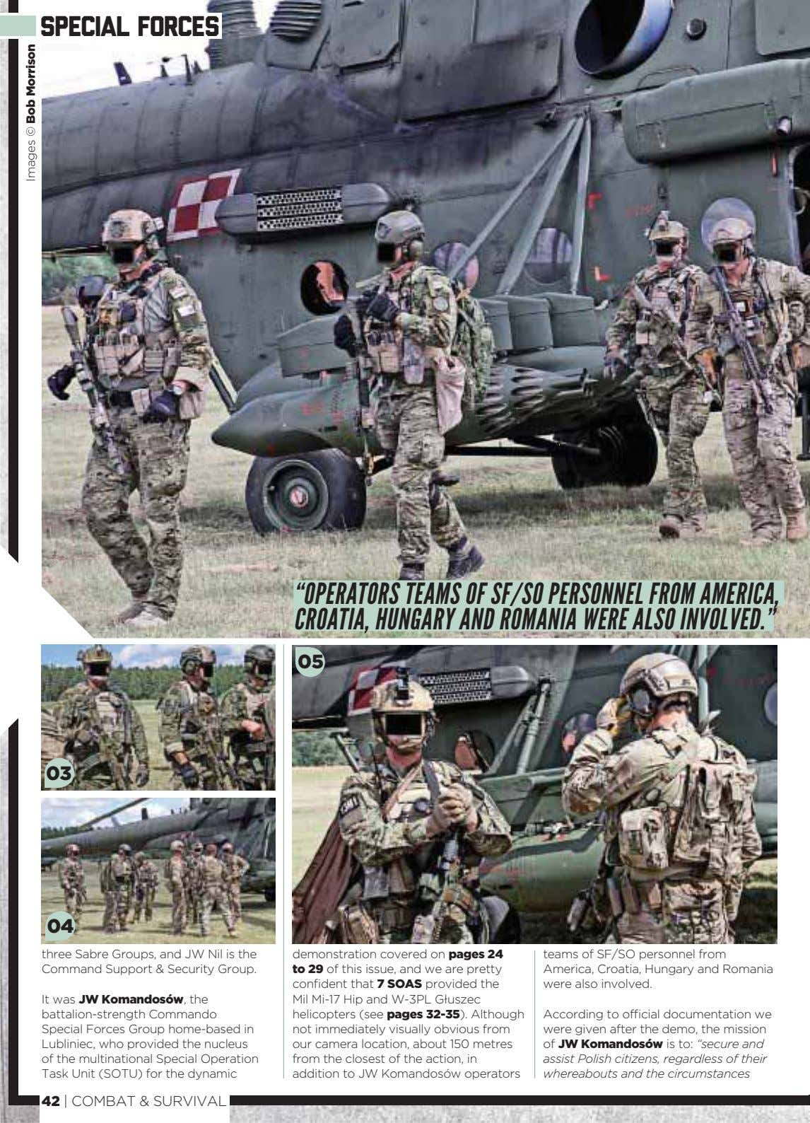 "special forces ""OPERATORS TEAMS OF SF/SO PERSONNEL FROM AMERICA, CROATIA, HUNGARY AND ROMANIA WERE ALSO"