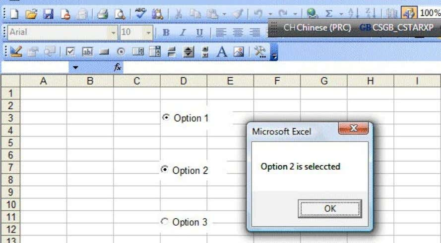 "OptionButton3_Click() MsgBox ""Option 3 is selected"" Figure 12.4: The Option Buttons Example 12.4 In this example"
