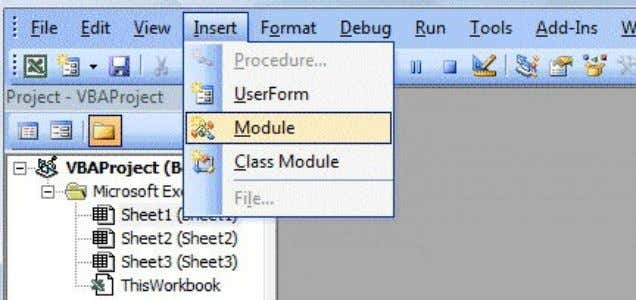 Figure 13.2: Inserting Module In the module environment, key in the function code for the