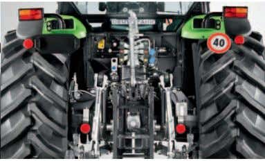 remote valves upon request. Mechanical rear lift controls. The powerful rear linkage with 5,300 kg lift