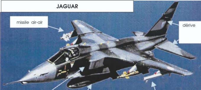 JAGUAR missile air-air dérive