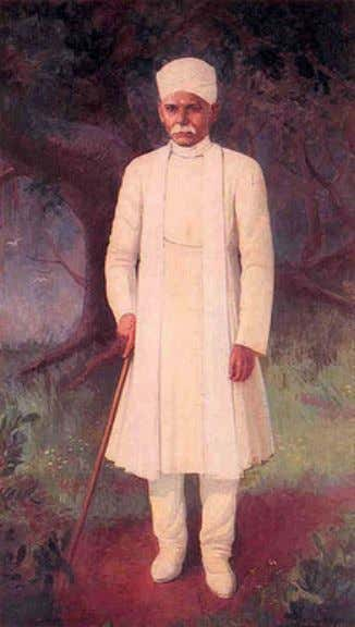 the free encycl opedia Pandit Madan Moh an Malviya Portrait of Madan Mohan Malv iya unveiled