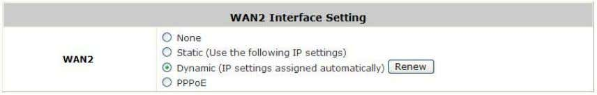 applicable for the network environment where a DHCP server is available. Click the Renew button to