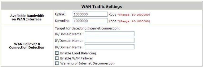 WAN Failover: Go to: System >> WAN Traffic . Enable WAN Failover: Normally AMG-2100/AMG-2101 uses WAN1