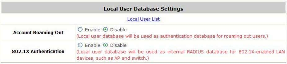 Click the button Configure for further configuration. Local User List: It let the administrator to view,