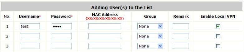 so this user can not login with other networking device. Search: Enter a keyword of a