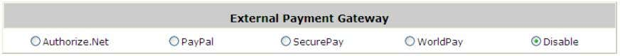 , PayPal , SecurePay , WorldPay or Disable . 5) On-demand Account Creation After at least