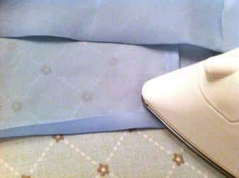 "on my dresses, making the slip's functionality pointless. I folded the slip ³/ 8 "" and"