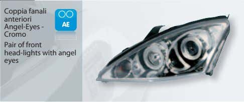 Coppia fanali anteriori Angel-Eyes - Cromo Pair of front head-lights with angel eyes
