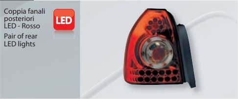 Coppia fanali posteriori LED - Rosso Pair of rear LED lights