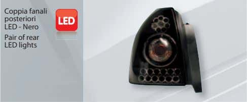 Coppia fanali posteriori LED - Nero Pair of rear LED lights