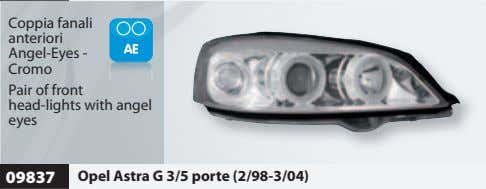 Coppia fanali anteriori Angel-Eyes - Cromo Pair of front head-lights with angel eyes 09837 Opel