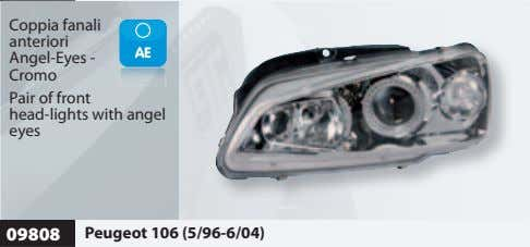 Coppia fanali anteriori Angel-Eyes - Cromo Pair of front head-lights with angel eyes 09808 Peugeot
