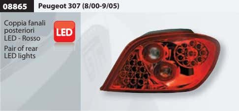 08865 Peugeot 307 (8/00-9/05) Coppia fanali posteriori LED - Rosso Pair of rear LED lights