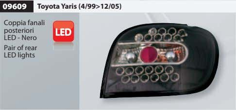 09609 Toyota Yaris (4/99>12/05) Coppia fanali posteriori LED - Nero Pair of rear LED lights