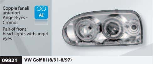 Coppia fanali anteriori Angel-Eyes - Cromo Pair of front head-lights with angel eyes 09821 VW