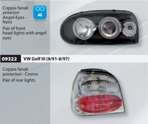 Coppia fanali anteriori Angel-Eyes - Nero Pair of front head-lights with angel eyes 09322 VW