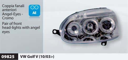 Coppia fanali anteriori Angel-Eyes - Cromo Pair of front head-lights with angel eyes 09825 VW