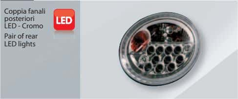 Coppia fanali posteriori LED - Cromo Pair of rear LED lights
