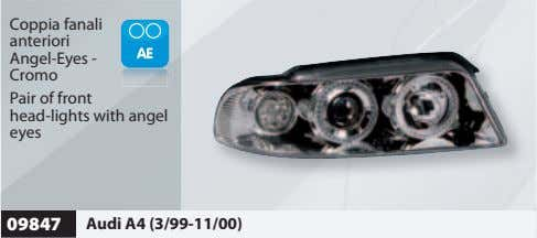 Coppia fanali anteriori Angel-Eyes - Cromo Pair of front head-lights with angel eyes 09847 Audi