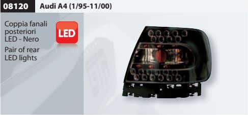 08120 Audi A4 (1/95-11/00) Coppia fanali posteriori LED - Nero Pair of rear LED lights