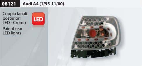08121 Audi A4 (1/95-11/00) Coppia fanali posteriori LED - Cromo Pair of rear LED lights
