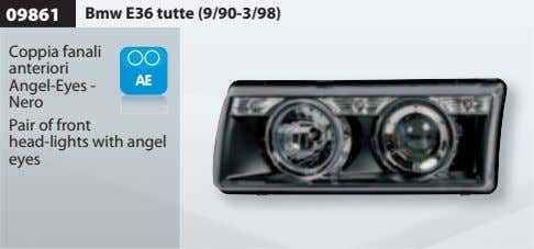 09861 Bmw E36 tutte (9/90-3/98) Coppia fanali anteriori Angel-Eyes - Nero Pair of front head-lights