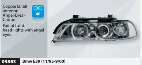 Coppia fanali anteriori Angel-Eyes - Cromo Pair of front head-lights with angel eyes 09863 Bmw