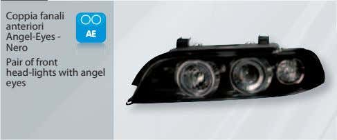Coppia fanali anteriori Angel-Eyes - Nero Pair of front head-lights with angel eyes