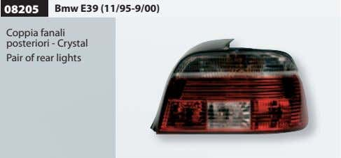 08205 Bmw E39 (11/95-9/00) Coppia fanali posteriori - Crystal Pair of rear lights