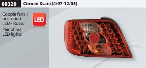 08320 Citroën Xsara (4/97-12/05) Coppia fanali posteriori LED - Rosso Pair of rear LED lights