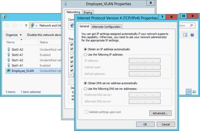 Figure 24 Configuring the LACP Team's Network Settings Enable NIC Teaming on the Second Dell