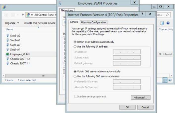 using the familiar Windows GUI as shown in Figure 39. Figure 39 Configuring the Switch Independent