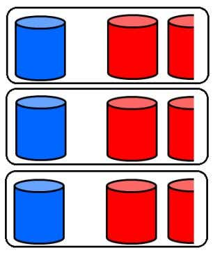 and red paint cans needed for an art project. Question 24 . Based on the diagram,
