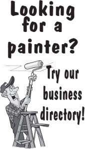 Looking for a painter? Try our business directory!