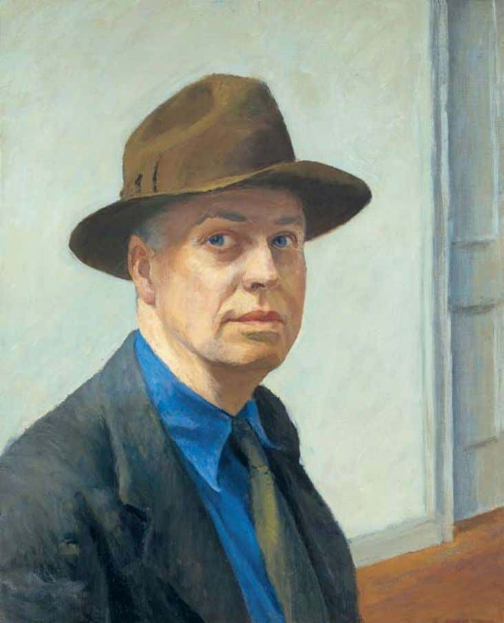 Hopper and His time last cHance! closes april 10 Edward Hopper (1882–1967), Self-Portrait , 1925–1930.