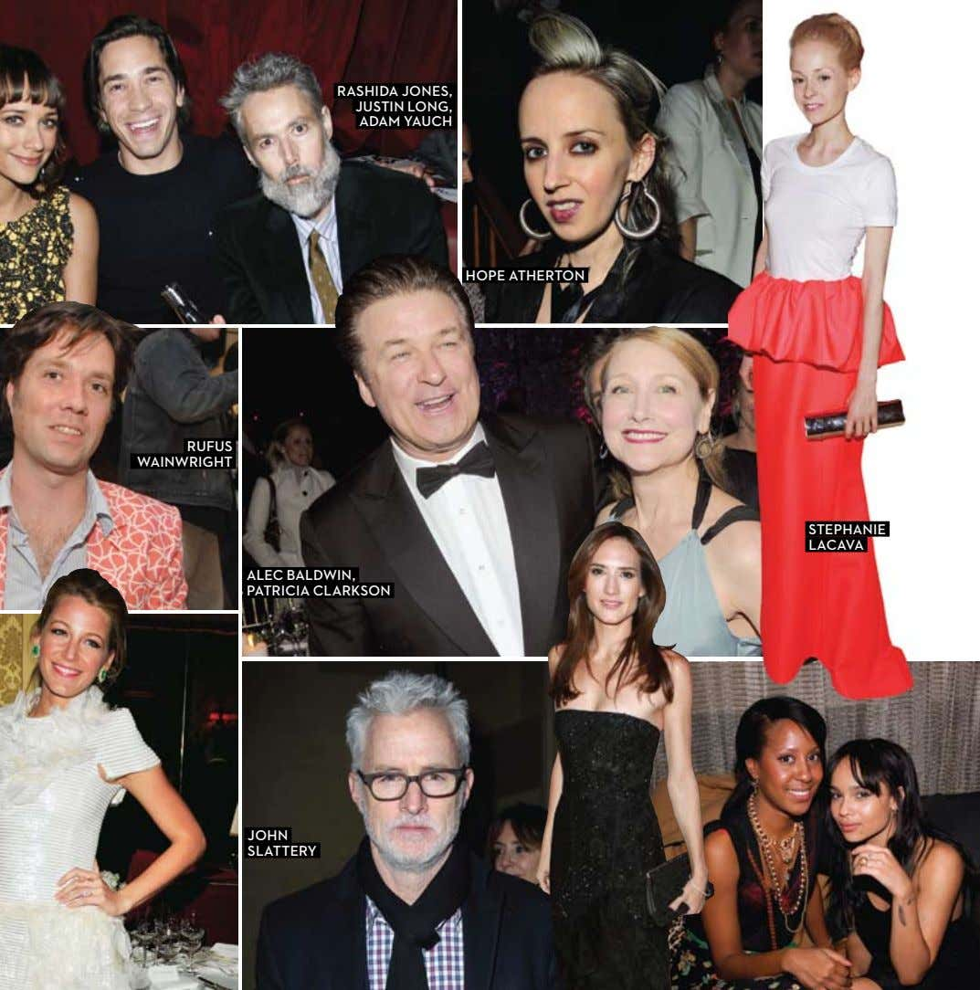 RASHIDA JONES, JUSTIN LONG, ADAM YAUCH HOPE ATHERTON RUFUS WAINWRIGHT STEPHANIE LACAVA ALEC BALDWIN, PATRICIA