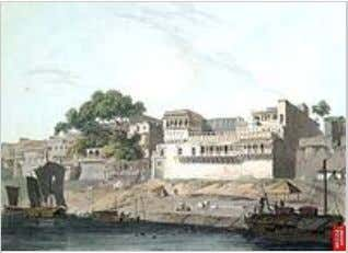 A painting of the city of Patna, on the River Ganges, Patna School of Painting