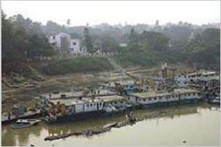Steamers and dredgers at Gai Ghat, Patna
