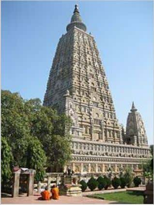 The Mahabodhi Temple , among the four holy sites related to the life of the