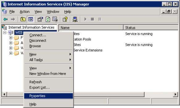 Setting up Windows 2003 server If your server is running Windows 2003 with IIS 6, you