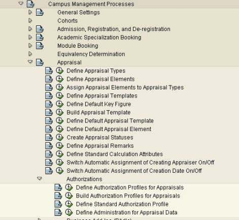 Cookbook 5.1 Defining Authorization Profile in IMG Define the ID and Name of an appraisal profile