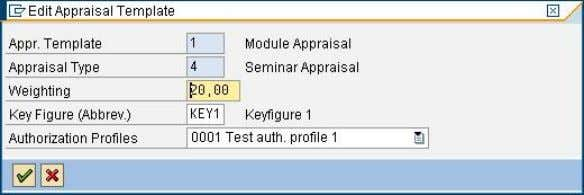 default appraisal authorization profile can be defined. Transaction PIQAGR_CUST 5.4 Define Default Authorization