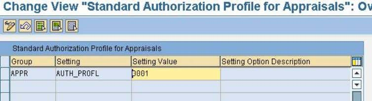 PIQAGR_CUST 5.4 Define Default Authorization Profile A system-wide default appraisal authorization profile c an