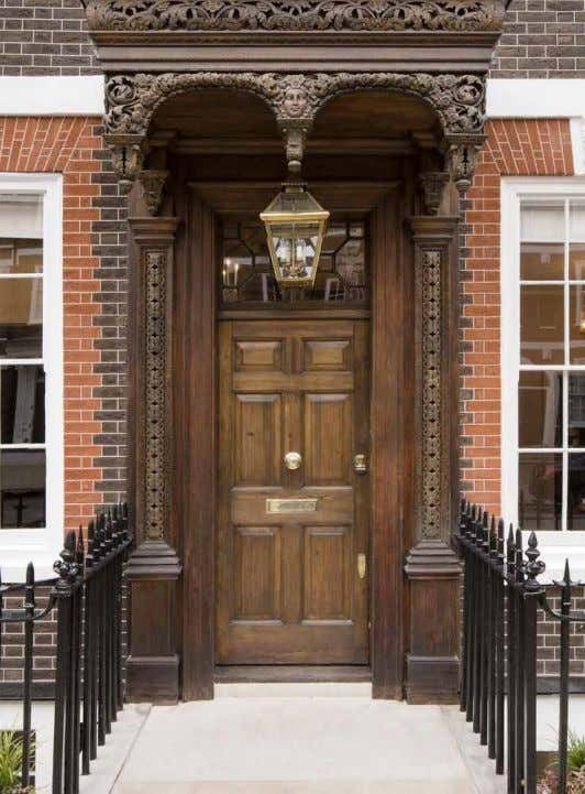 "where you will see London houses of the 18th century in near mint condition."" London by"