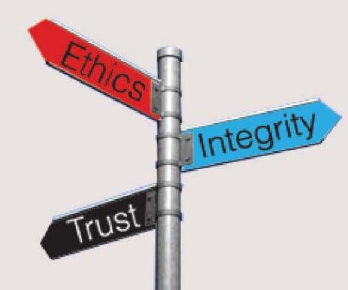continuation text Ethics, Integrity and Trust Banking deals with public money where Ethics, Integrity and Trust
